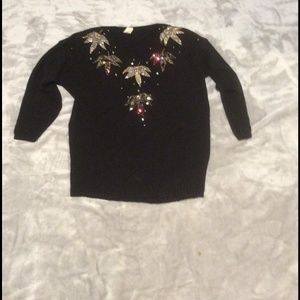 Sweaters - Black embellished sweater one size, rare vintage